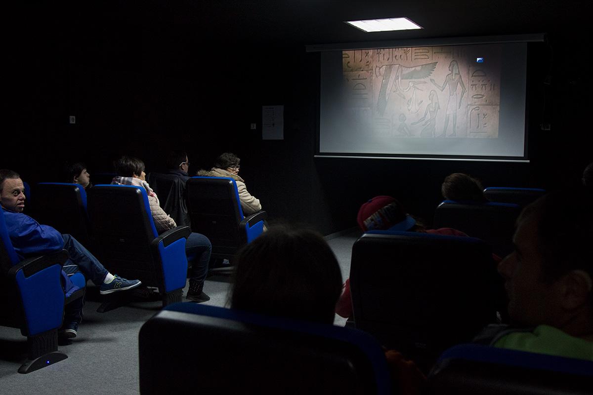 sala de cine para los usuarios