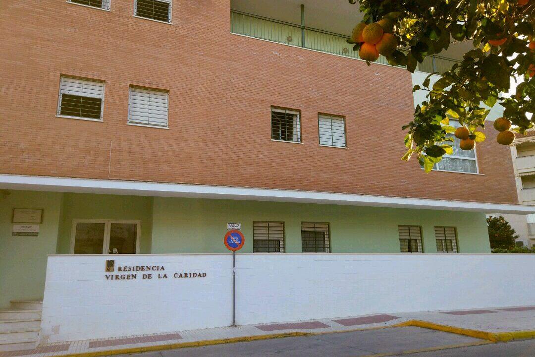 Fachada del edificio de la residencia de gravemente afectados